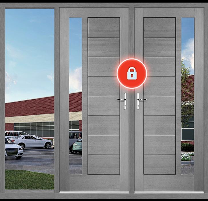 Defendry auto-locking doors