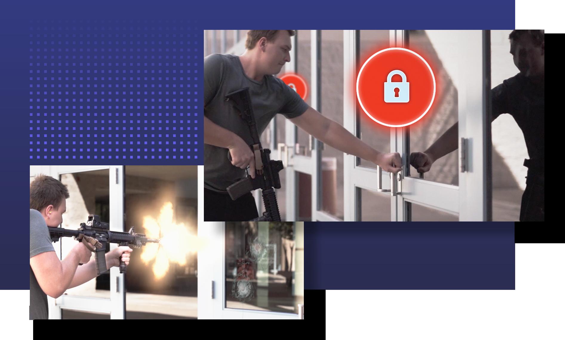Auto-lock doors