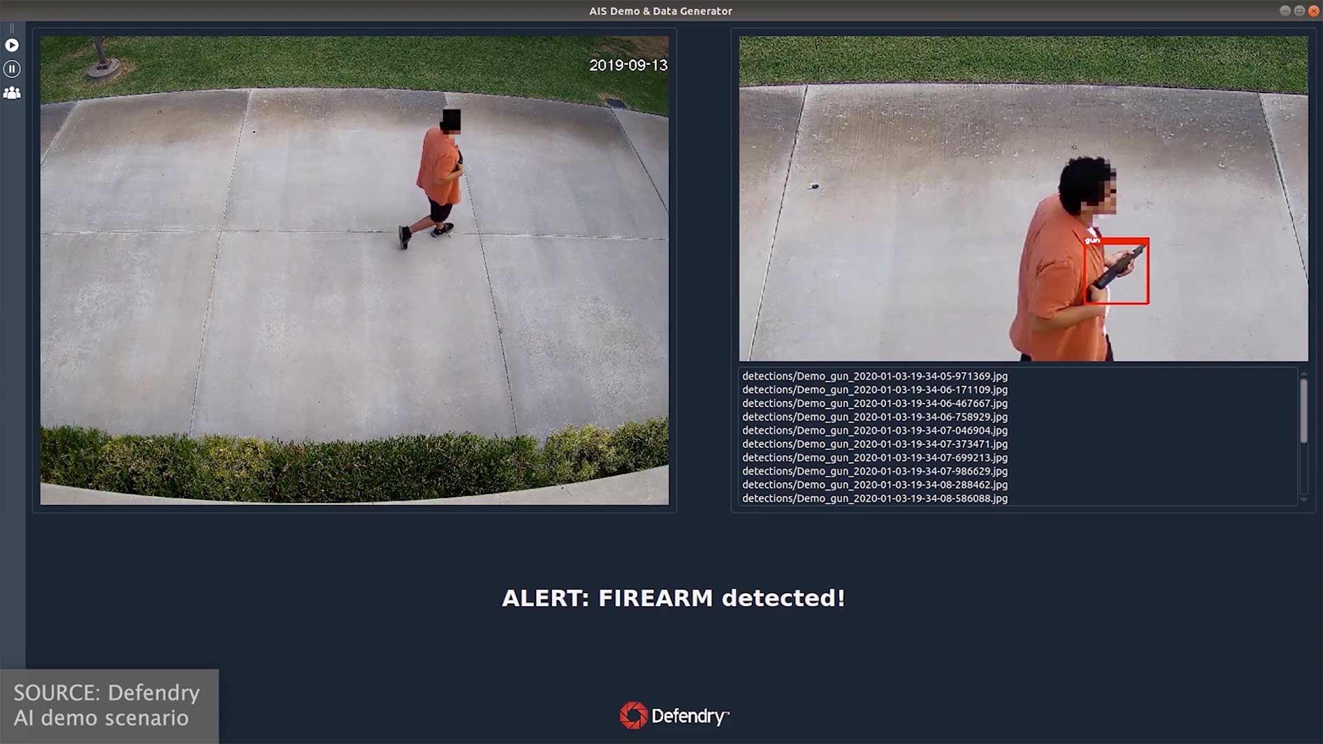 Defendry   Outdoor Gun Detection   Dusk, Shotgun