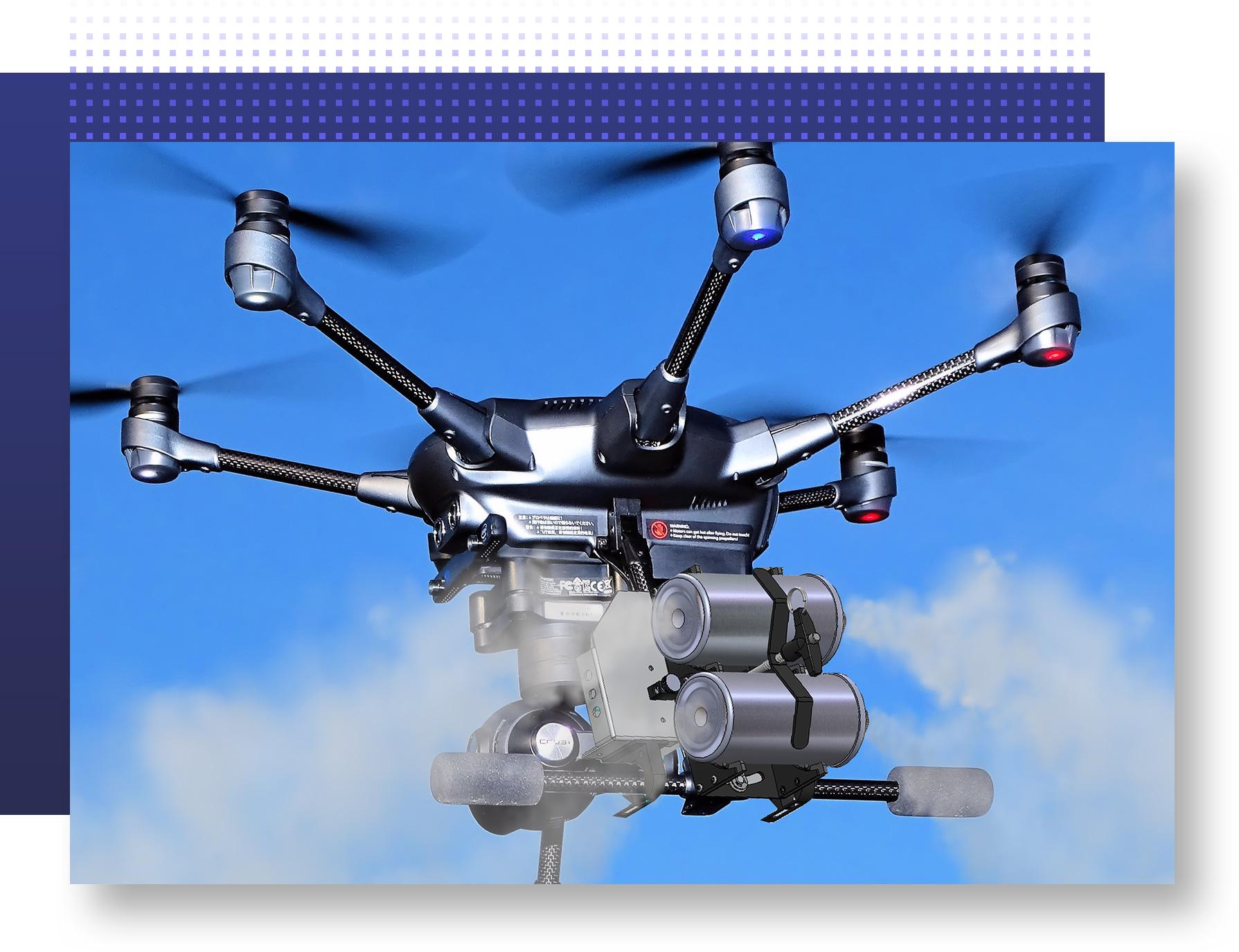 Precision Aerial Dispenser | Defendry Aerial Platform | Drone