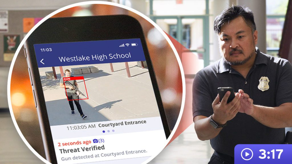 Defendry Alert System | Security guard receiving threat detection on phone