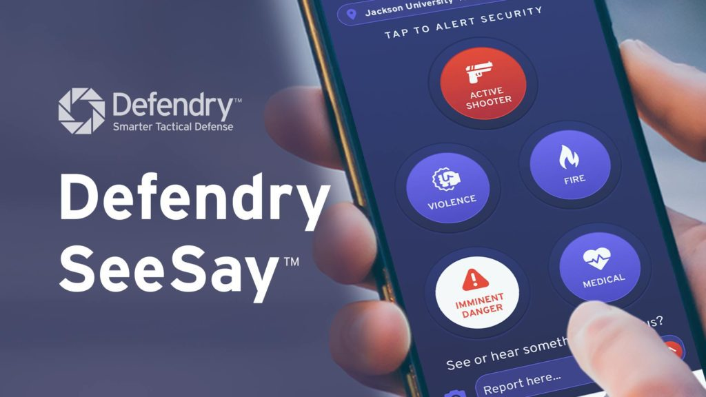 Defendry SeeSay App | Panic Buttons | Anonymous Tip Reporting | Phone