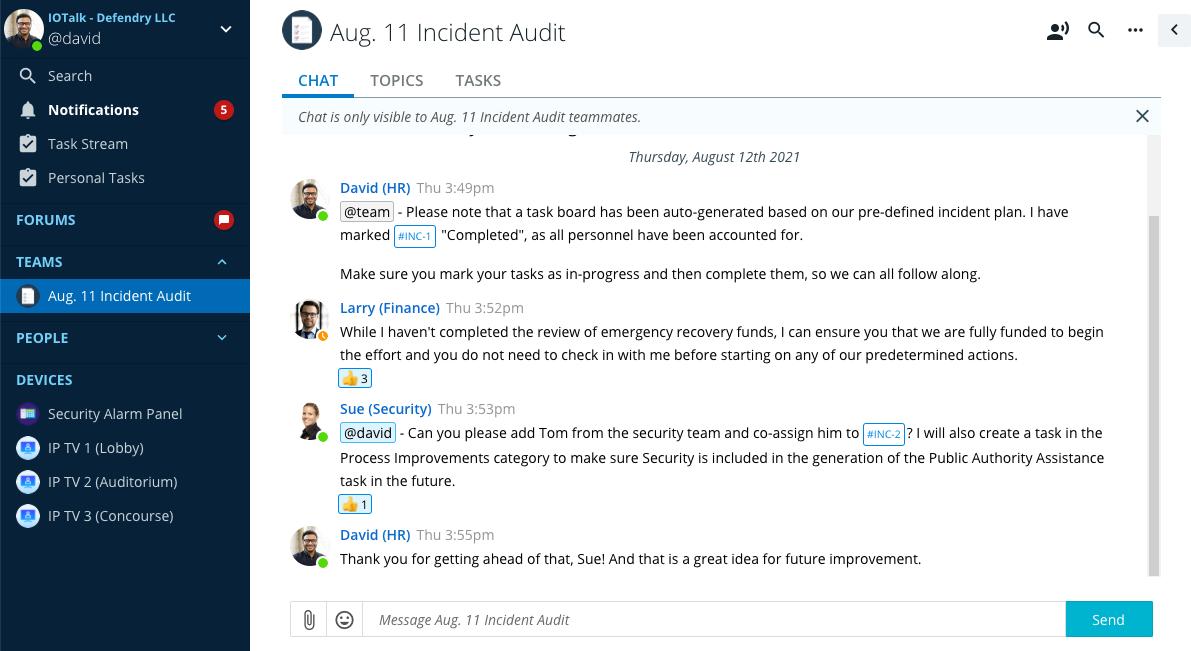 IoTalk Incident Chat